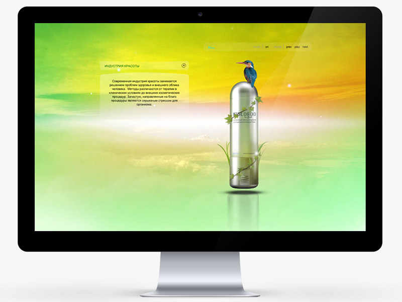 Сайт для компании Prana